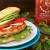 Thumbnail image for Spicy Sriracha Salmon-Basil Burger Recipe
