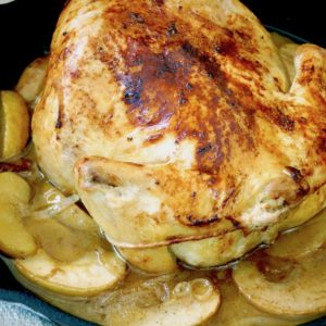 Apple-Bacon Roasted Chicken Recipe