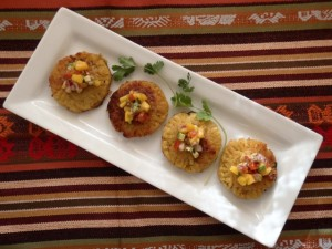 Plantain-Picadillo Empenada Recipe with Mango Salsa