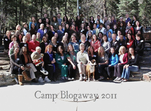 group picture of food bloggers at Camp Blogaway 2011