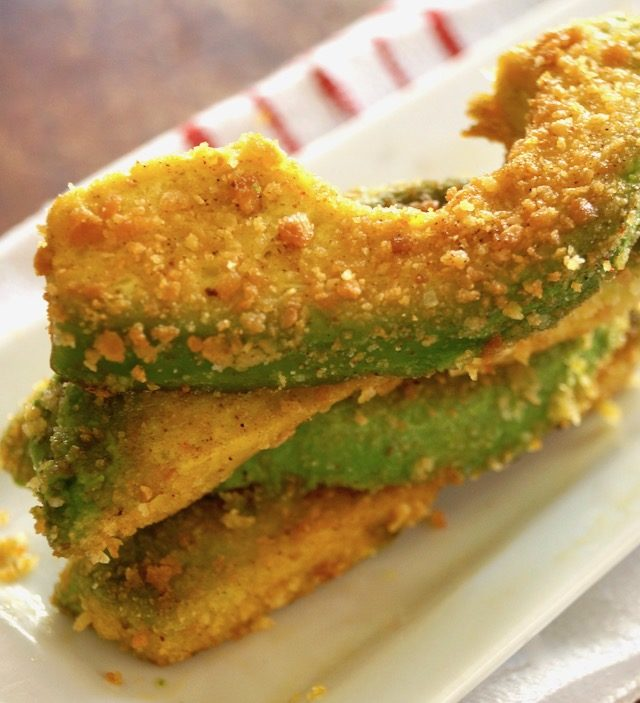 Stack of a few Spiced Avocado Fries