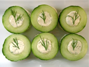Cucumber Dill Canapé on cookingontheweekends.com