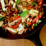 Vegetable Mint Stir Fry Recipe With Tofu Noodles
