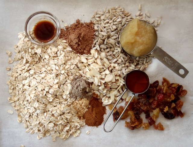ingredients for Father's Day Apple Spiced Granola Recipe