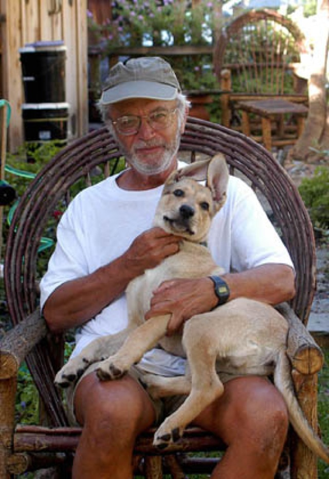 Valentina's dad and his puppy