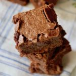 Close up of small stack of Palm Beach Brownies