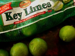 kely lime bag and three key limes next to it