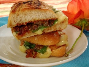 Friday Flowers: Grilled Cheese With Gruyère and Bacon-Onion Compote