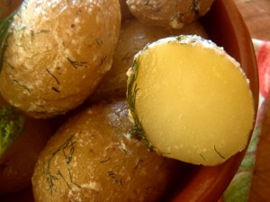 Salt Potatoes Recipe With Fresh Dill and Mascarpone