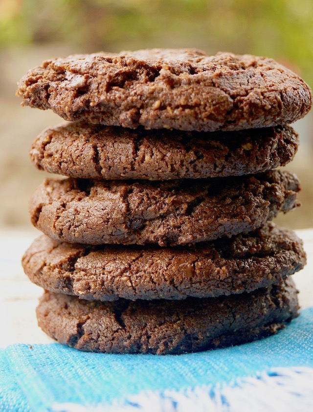 Stack of 5 Double Chocolate Almond Spice Cookies