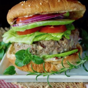 Grilled Mediterranean Burgers Recipe
