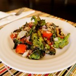 Roasted Kale Chip-Quinoa Salad With Pancetta and Tomato Vinaigrette