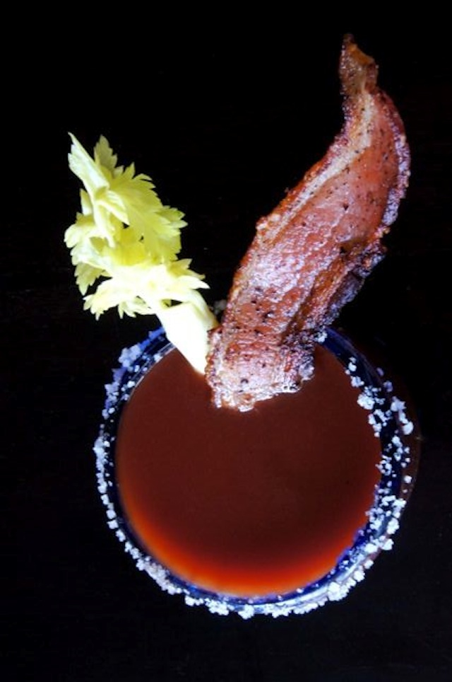 An (Almost) Classic Bloody Mary - You will flip over the bacon!