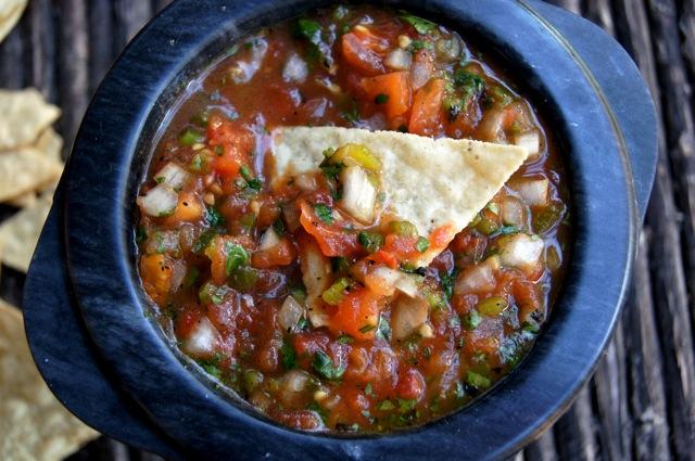Roasted Tomato Poblano Salsa