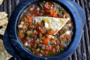 Roasted Tomato poblano Salsa Recipe