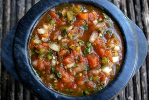 Roasted Tomato Poblano Salsa Recipe