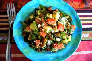 Chopped Mexican Salad with Pepitas & Honey-Chipotle Dressing