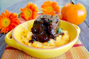 Friday Flowers: Gerberas and Pumpkin Braised Short Ribs Recipe