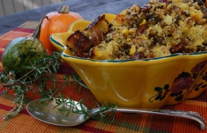 Gluten-Free Thanksgiving Cornbread Stuffing Recipe with Mushrooms