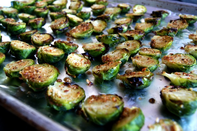 Thanksgiving-Recipe-Hazelnut Brown Butter Brussels Sprouts