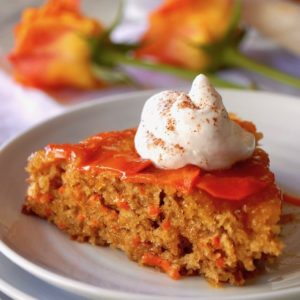 Upside Down Carrot Apricot Cake Recipe