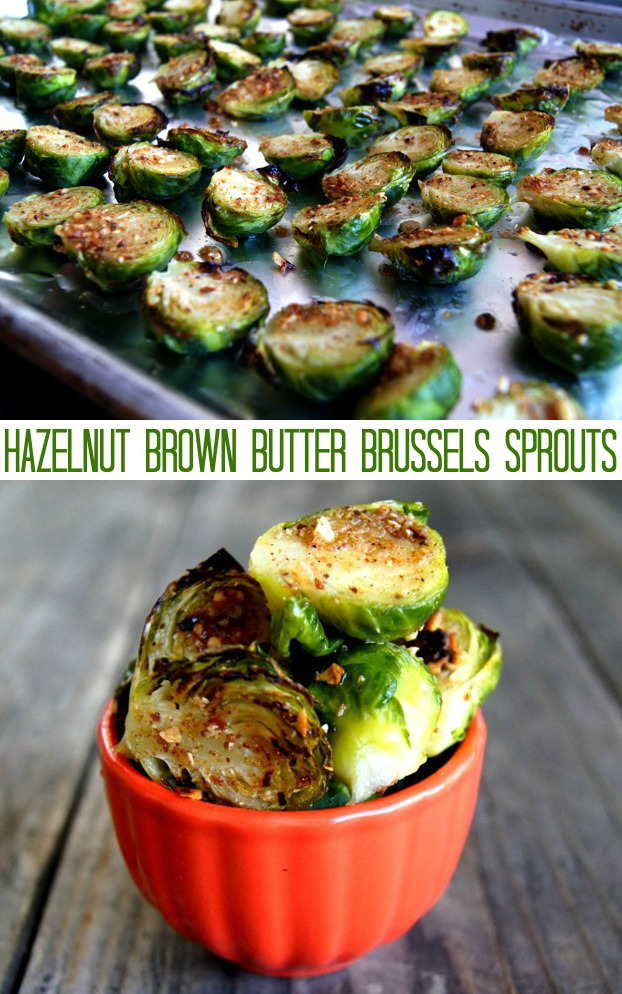 Brussels sprouts halved, and on a sheet pan and in a small red bowl