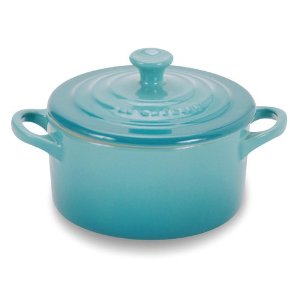 small blue dutch oven