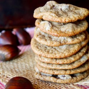 Chestnut Cookies with Chocolate Chips