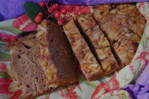 Friday Flowers: Christmas Holly and Spiced Almond-Apple-Persimmon Bread