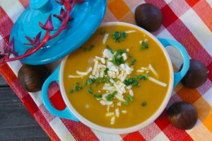 Friday Flowers: Red Succulents and Cream of Chestnut-Potato Soup Recipe