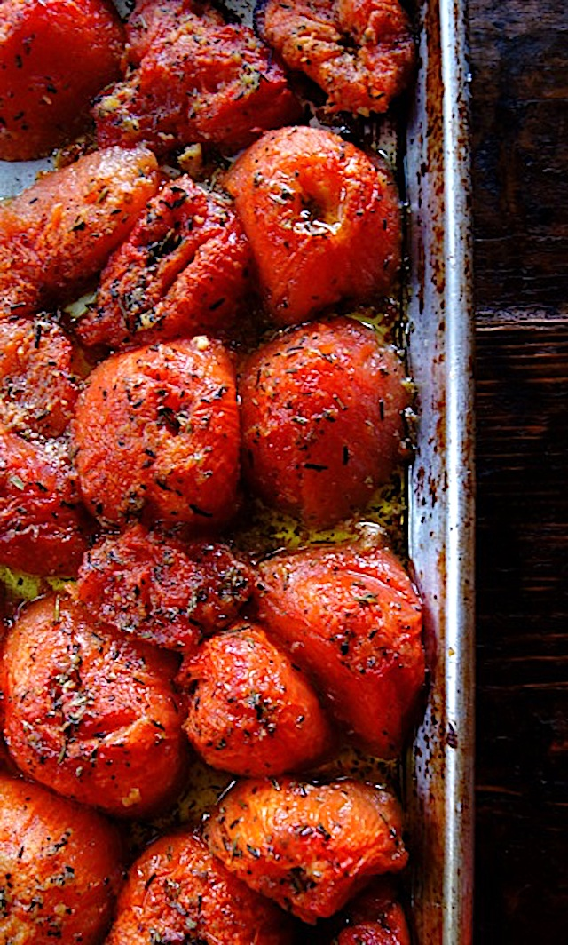 Rosemary-Tomato Cofit on a sheet pan