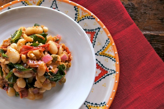 Cannellini Bean-Tuna Salad with Lemon-Caper Balsamic Vinaigrette