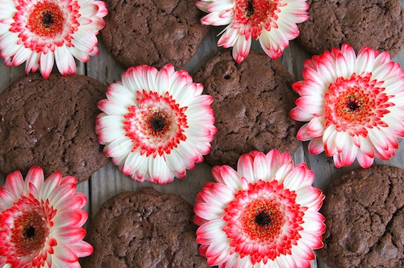 Pink Gerberas and Double Chocolate Double Espresso Cookies