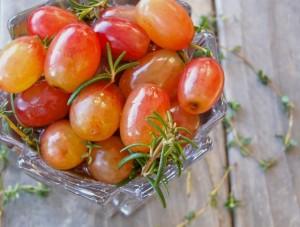 Wine Marinated Grapes