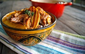 Braised Pork Ribs with Apple Ginger Soy Sauce