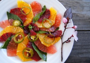 Friday Flowers: Stone Fruit Flowers and Winter Citrus Carpaccio Recipe
