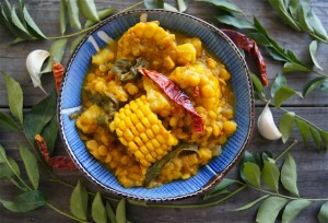 Curried Corn Stew with Lentils and Sweet Potato Recipe