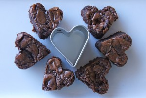 Valentine's Day Nutella Brownies Full of Heart! {Gluten-Free}