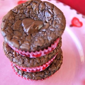 Valentine's Day Nutella Brownies Full of Heart {Gluten-Free}