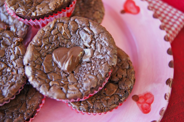 Post image for Valentine's Day Nutella Brownies Full of Heart! {Gluten-Free}
