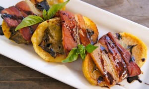 Bacon, Basil and Balsamic Potatoes Recipe