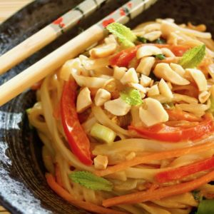 Vegetarian Pad Thai Recipe and Peanut Sauce