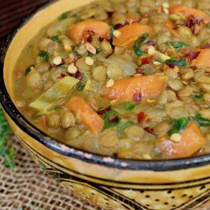 Vegan Lentil Stew with Coconut Milk