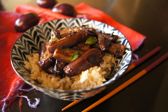Spicy Miso Glazed Eggplant