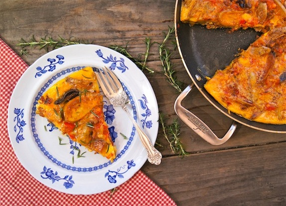 French Fry Frittata with Chipotle Chorizo Sauce