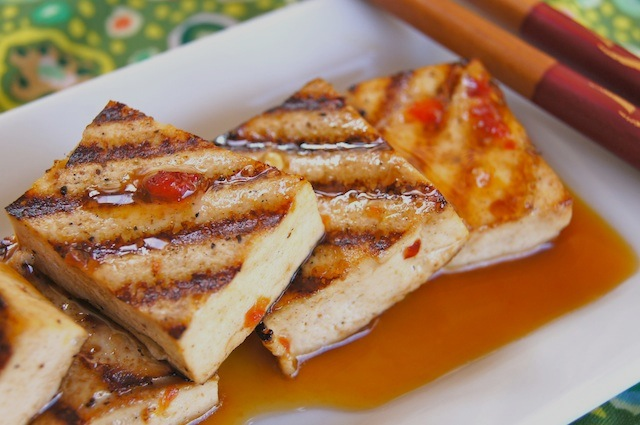 Spiced Tangerine Grilled Tofu Recipe | weekend recipes