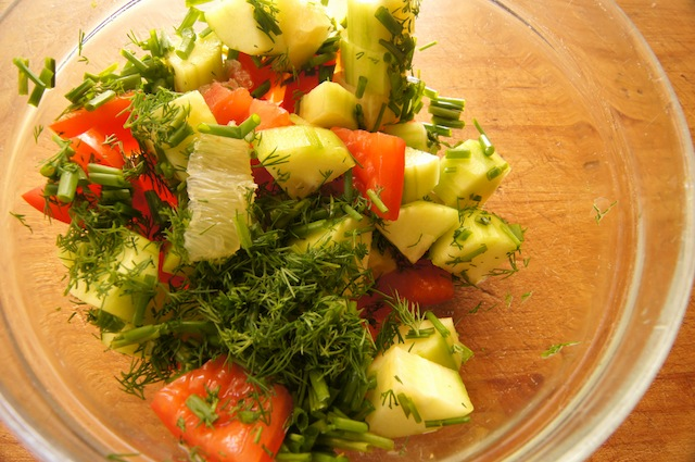 Cucumber-Lemon Tomato Salad