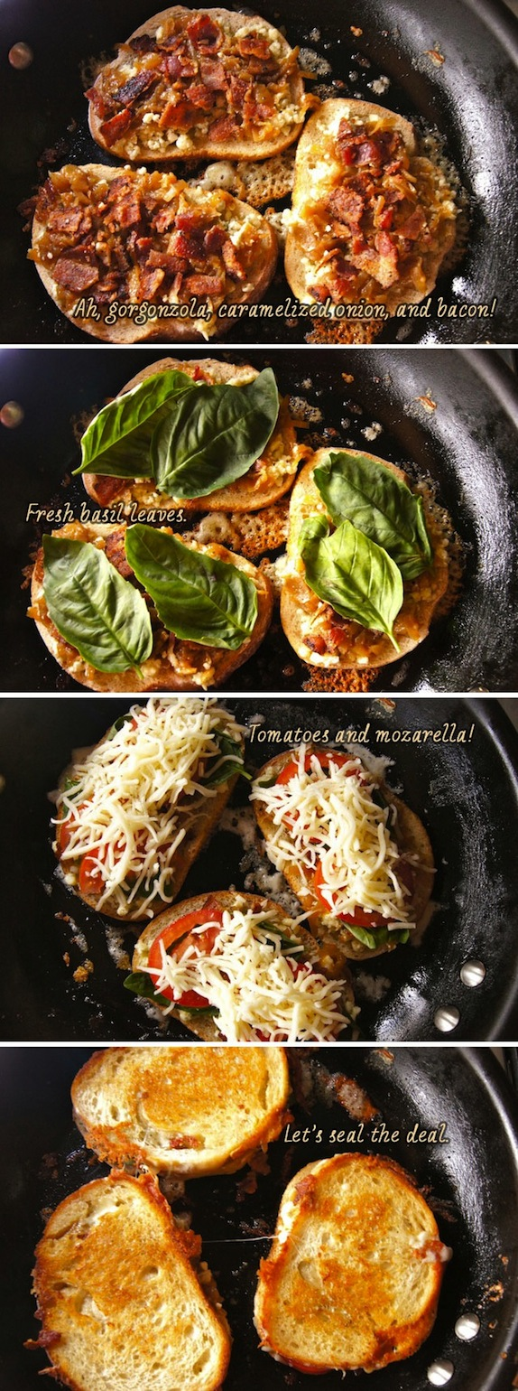 Bacon Basil Tomato Grilled Cheese