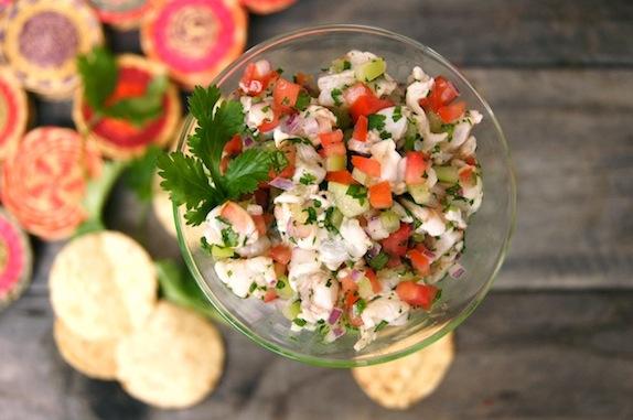Tomatillo Shrimp Ceviche