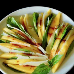 Mango-Manchego Basil Salad Recipe